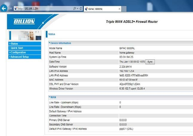 How to enable parental controls on billion routers